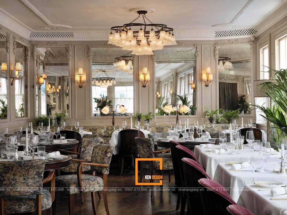 Hợp tác thiết kế nhà hàng phong cách cổ điển