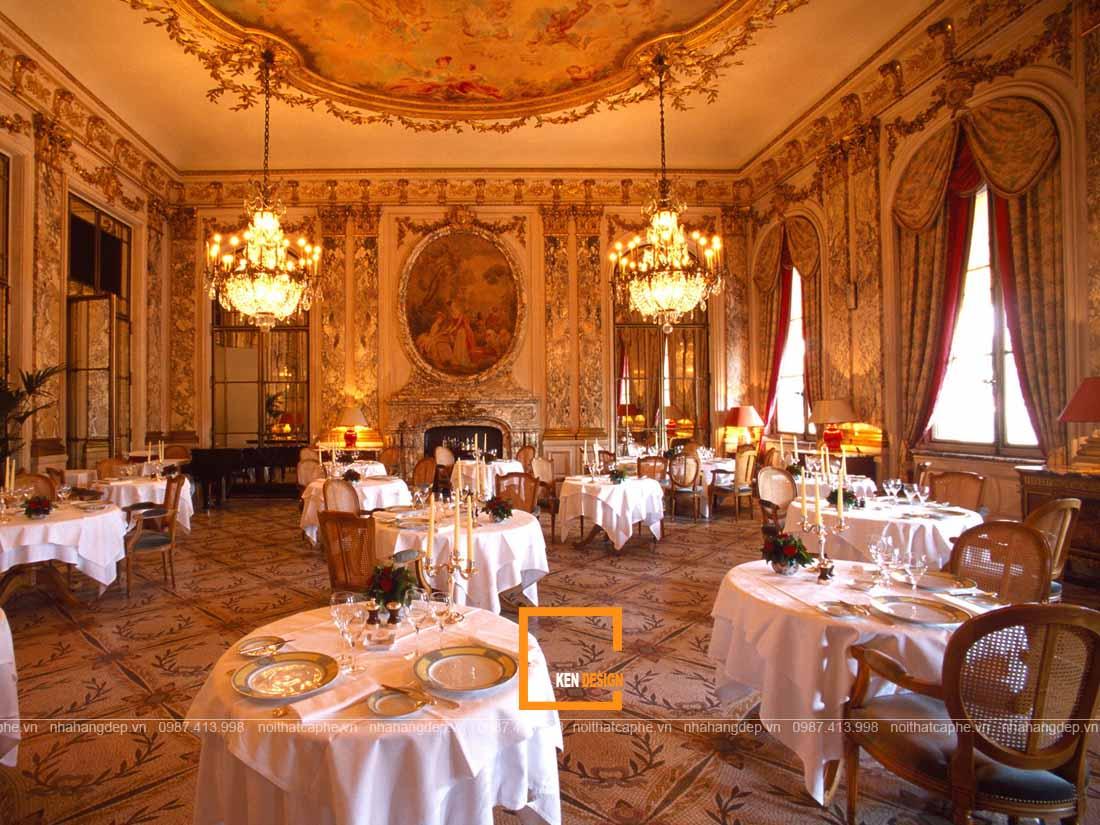 Nắm rõ đặc trưng thiết kế nhà hàng phong cách cổ điển