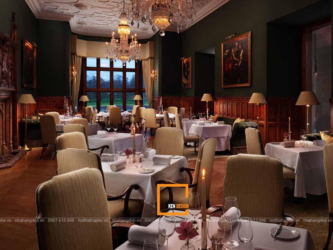 Thiết kế nhà hàng phong cách cổ điển cuốn hút