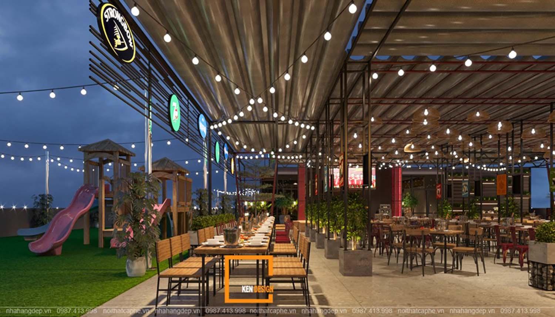Mẫu thiết kế nhà hàng khung thép Sky View