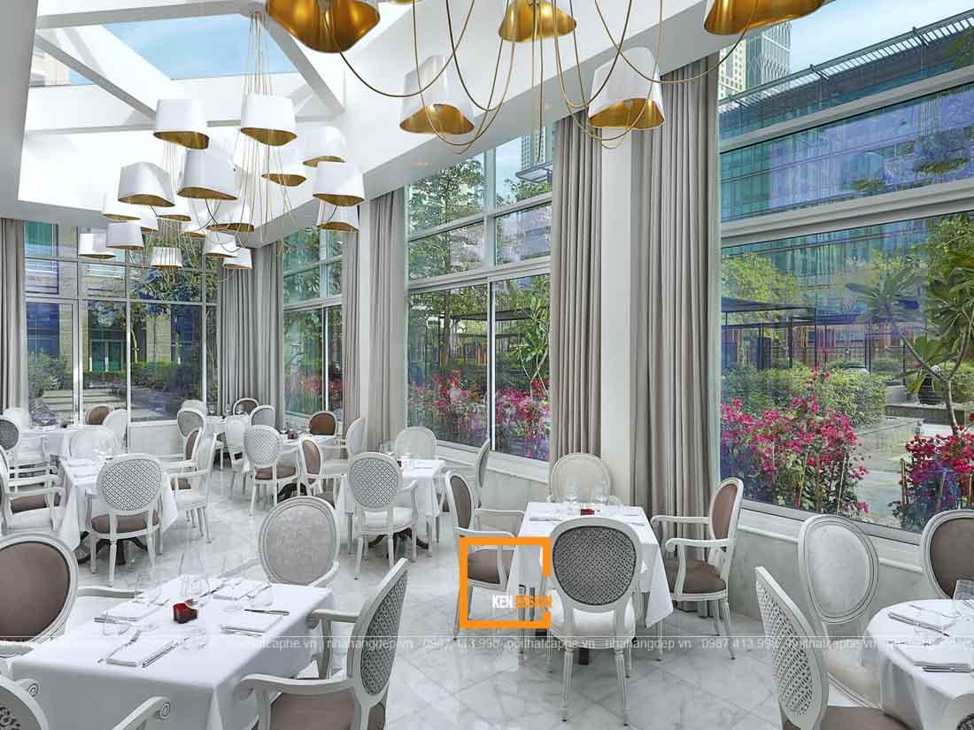 Thiết kế nhà hàng ấn tượng với chất liệu kính