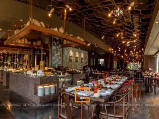 thiet ke nha hang buffet voi chat lieu go moc cuon hut 3 533x400 - Thiết kế nhà hàng buffet với chất liệu gỗ mộc cuốn hút