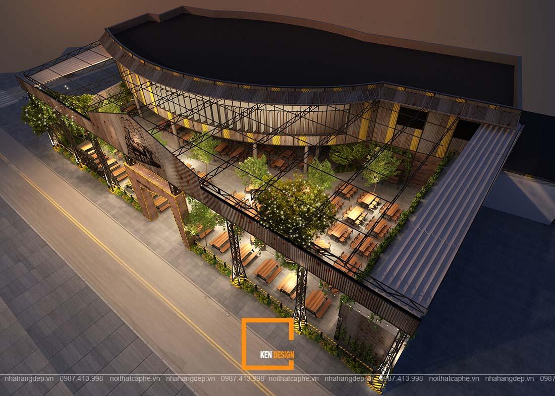 thiet ke nha hang gangs 6 - Thiết kế nhà hàng The Gangs - Không gian sáng tạo tuyệt vời