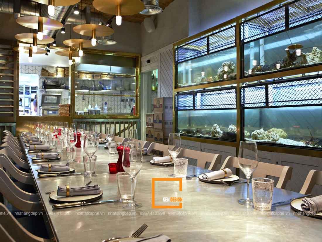 Thiết kế nhà hàng hải sản phong cách hiện đại