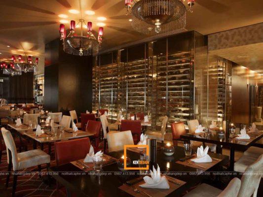 thiet ke nha hang phong cach co dien net dep doc dao moi thoi dai 4 533x400 - Thiết kế nhà hàng phong cách cổ điển - nét đẹp độc đáo mọi thời đại