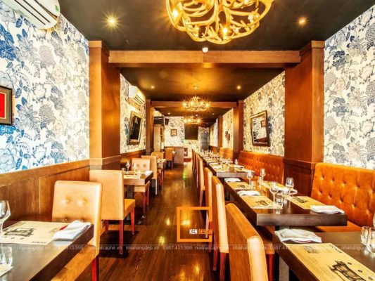 thiet ke nha hang tai ho chi minh dam bao cong nang tham my 3 533x400 - Thiết kế nhà hàng tại Hồ Chí Minh đảm bảo công năng thẩm mỹ
