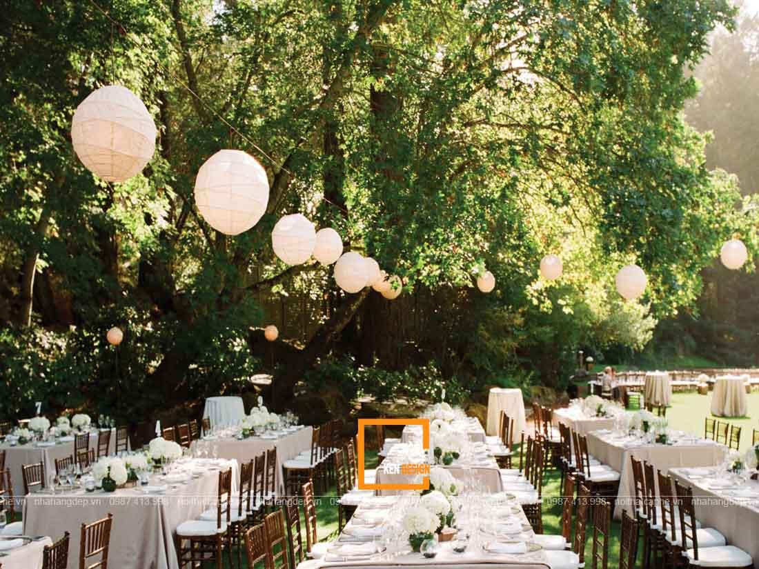 Thiết kế nhà hàng tiệc cưới ngoài trời
