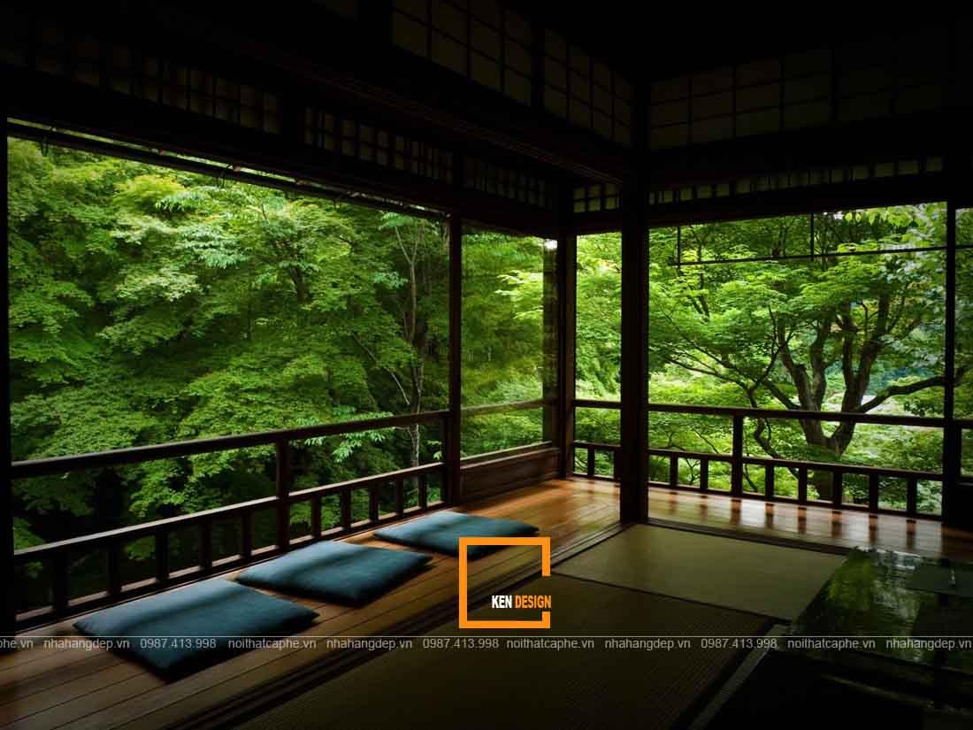 Thiết kế nội thất nhà hàng hòa hợp với thiên nhiên