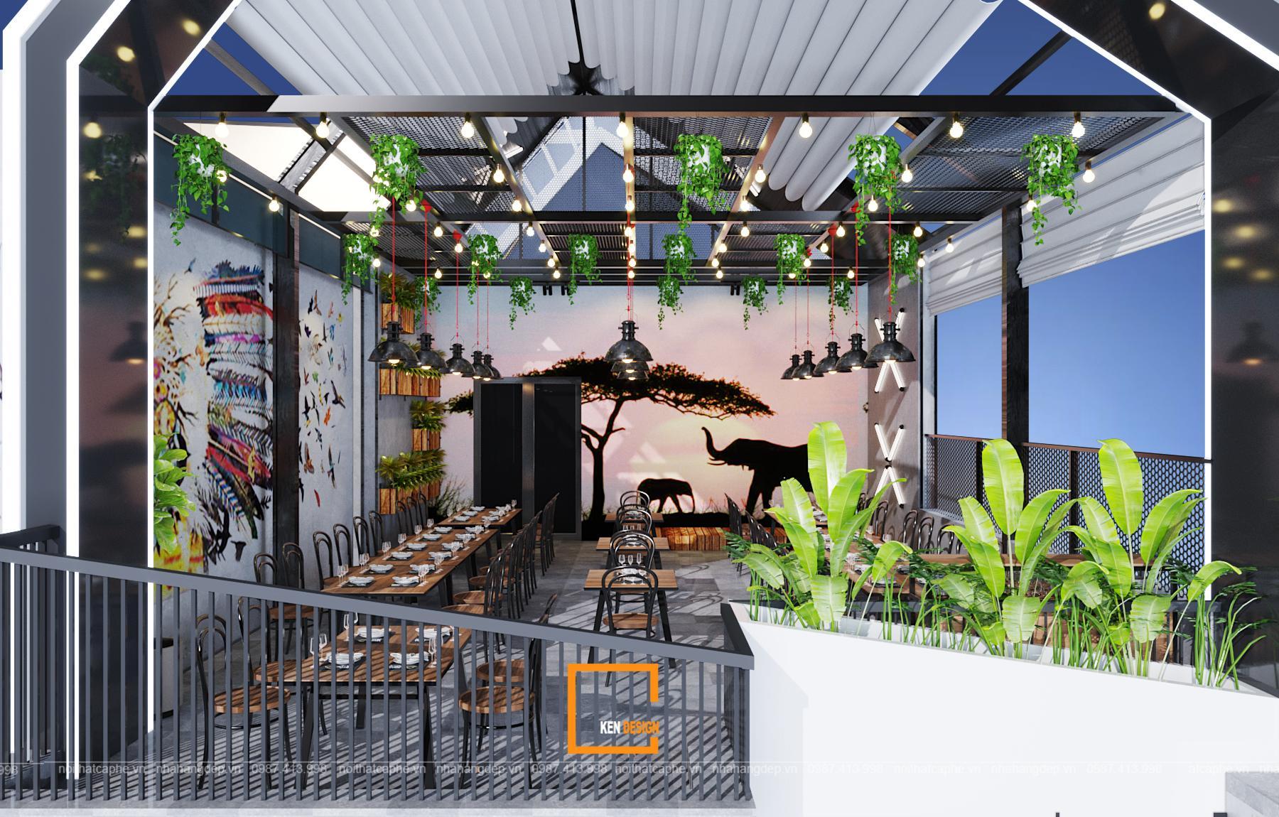 Các mẫu thiết kế nhà hàng đẹp trên toàn quốc