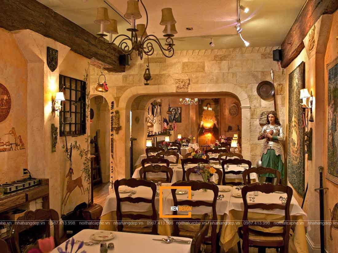 Để thiết kế nhà hàng phong cách cổ điển trở nên ấn tượng hơn