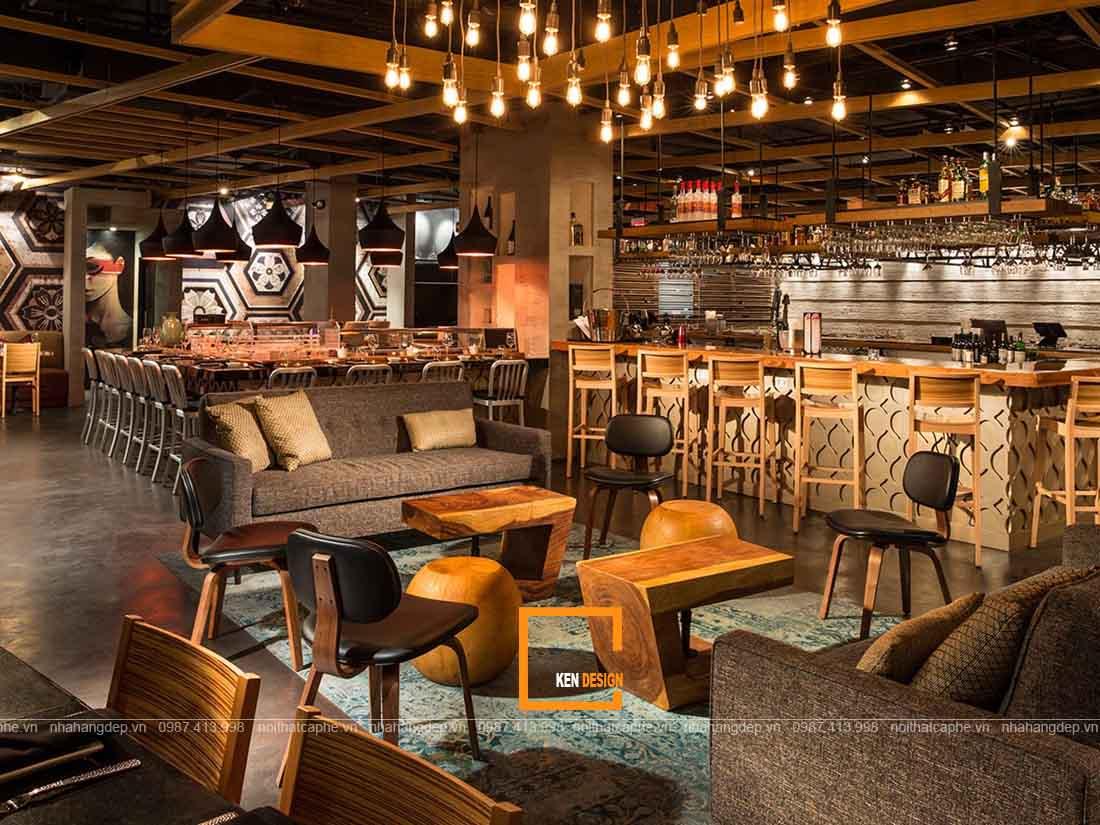 Thiết kế nội thất nhà hàng ấn tượng