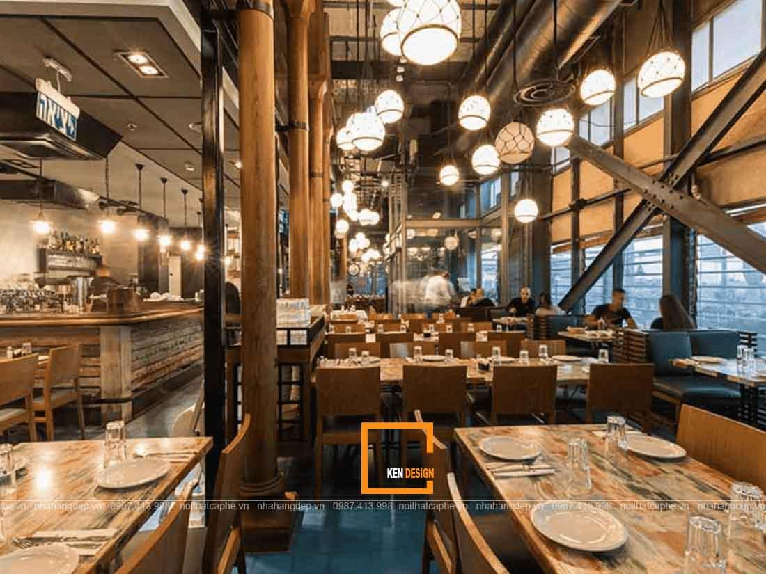 Chú ý hệ thống ánh sáng trong thiết kế nội thất nhà hàng