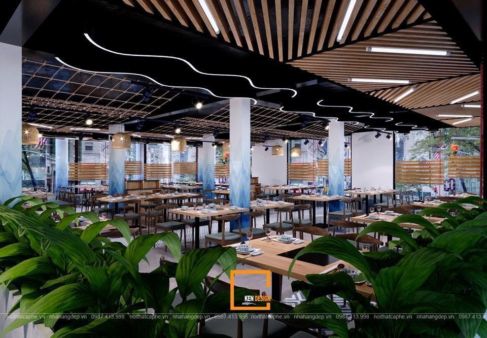 Thiết kế nội thất nhà hàng lẩu kết hợp buffet hải sản