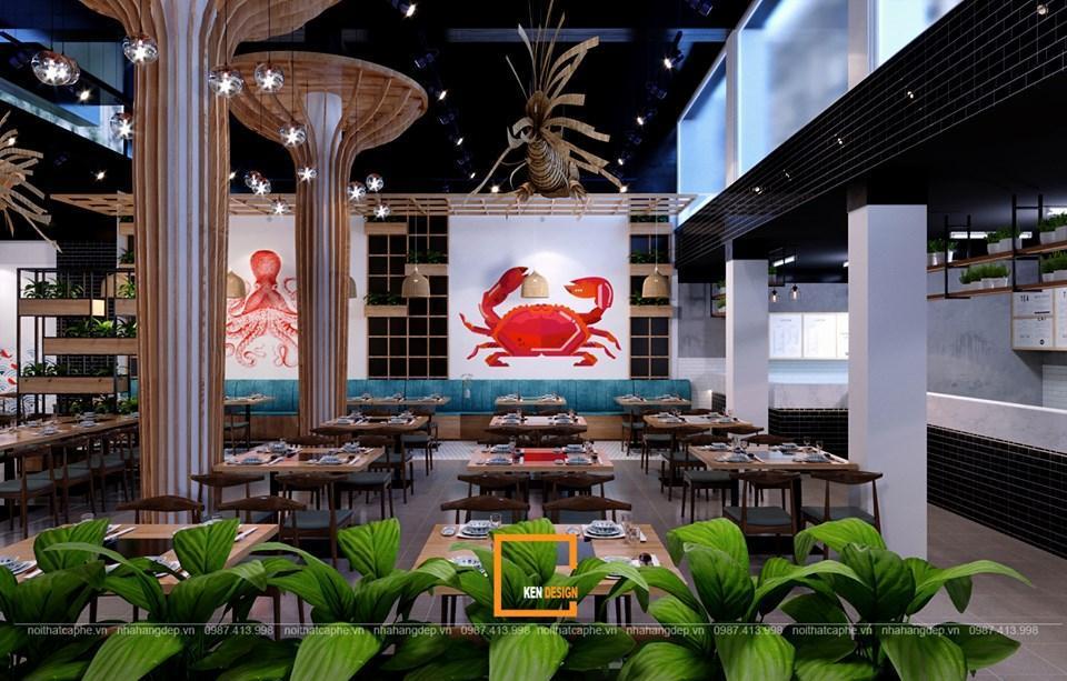 Trang trí thiết kế nhà hàng lẩu