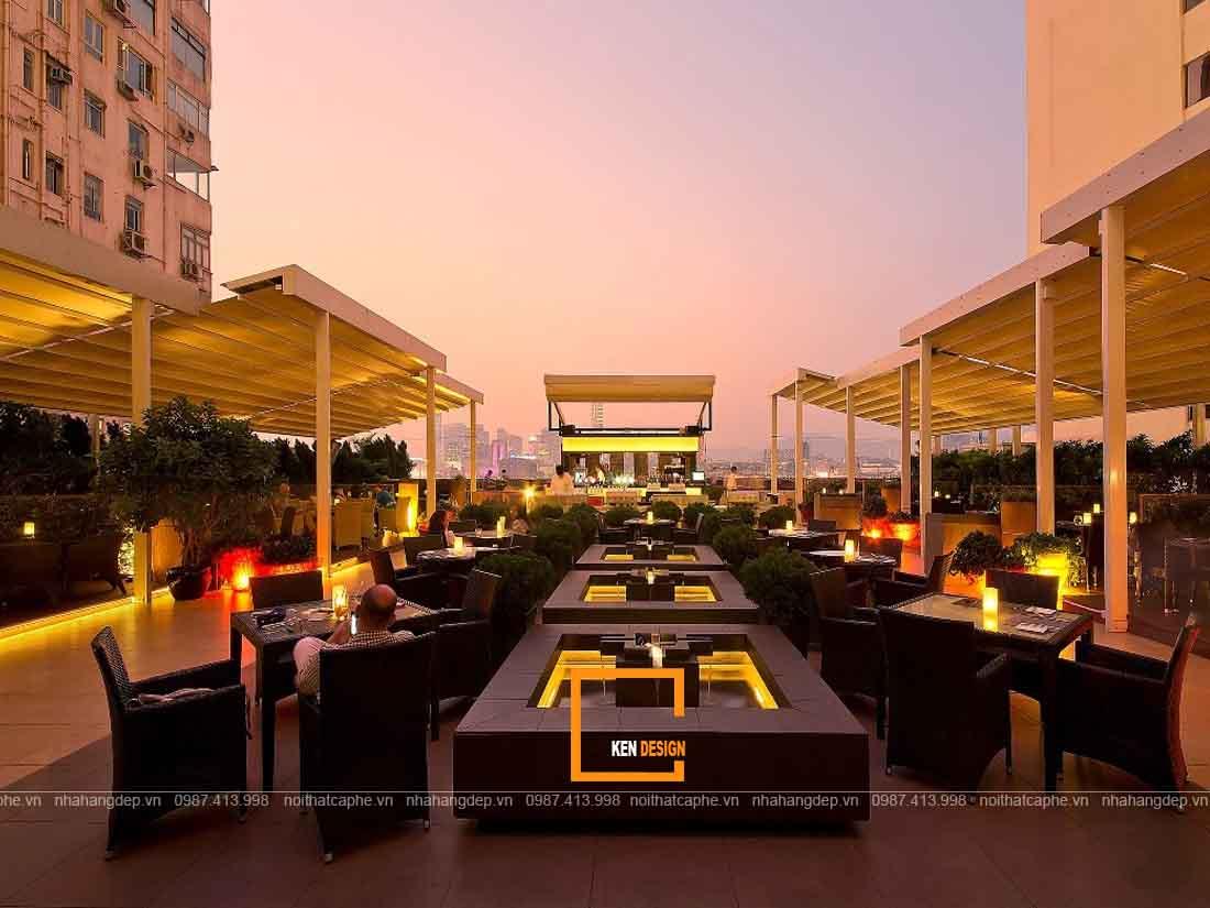 Nguyên tắc vàng trong thiết kế nhà hàng ngoài trời