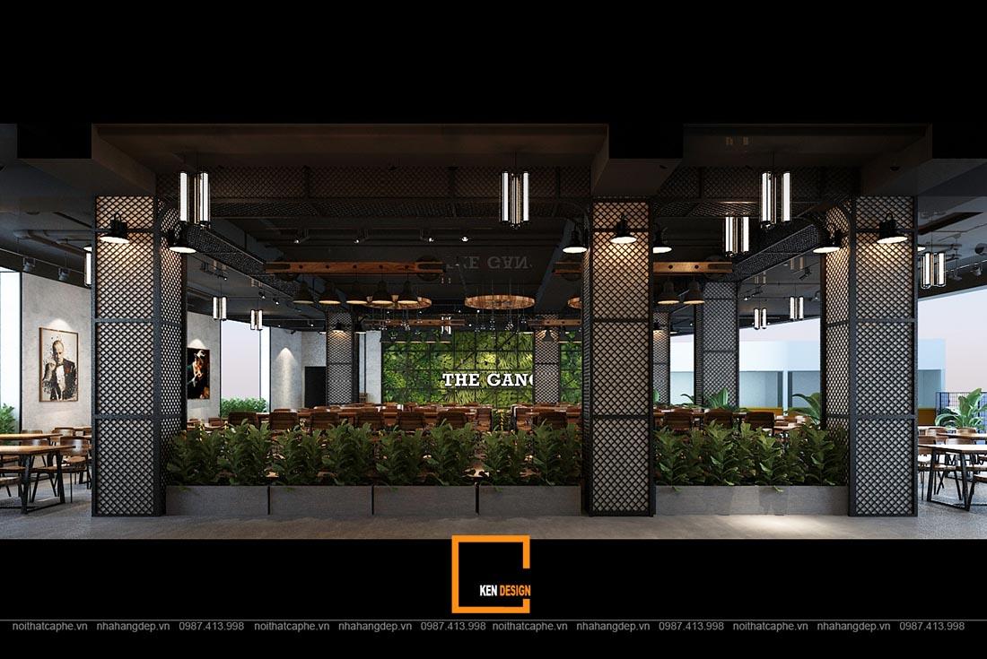 thiet ke nha hang gangs 11 1 - Thiết kế nhà hàng The Gangs - Không gian sáng tạo tuyệt vời