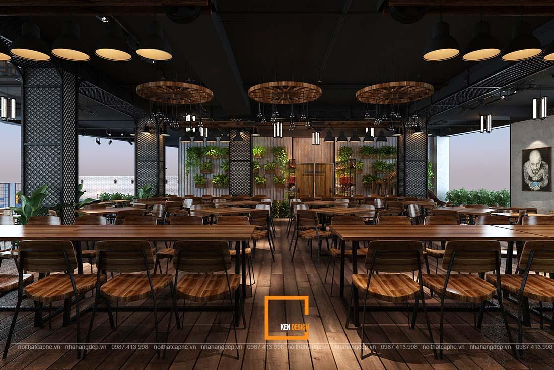 thiet ke nha hang gangs 12 1 - Thiết kế nhà hàng The Gangs - Không gian sáng tạo tuyệt vời