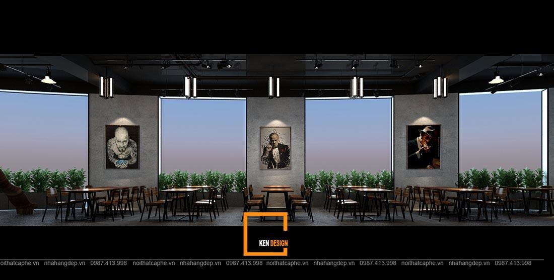 thiet ke nha hang gangs 14 1 - Thiết kế nhà hàng The Gangs - Không gian sáng tạo tuyệt vời