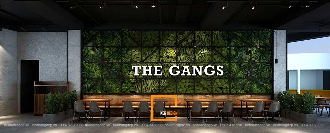 thiet ke nha hang gangs 15 1 - Thiết kế nhà hàng The Gangs - Không gian sáng tạo tuyệt vời