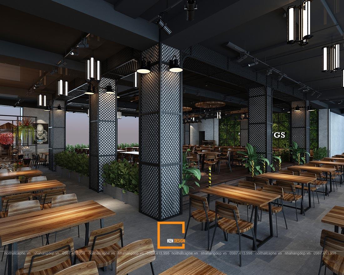 thiet ke nha hang gangs 2 1 - Thiết kế nhà hàng The Gangs - Không gian sáng tạo tuyệt vời
