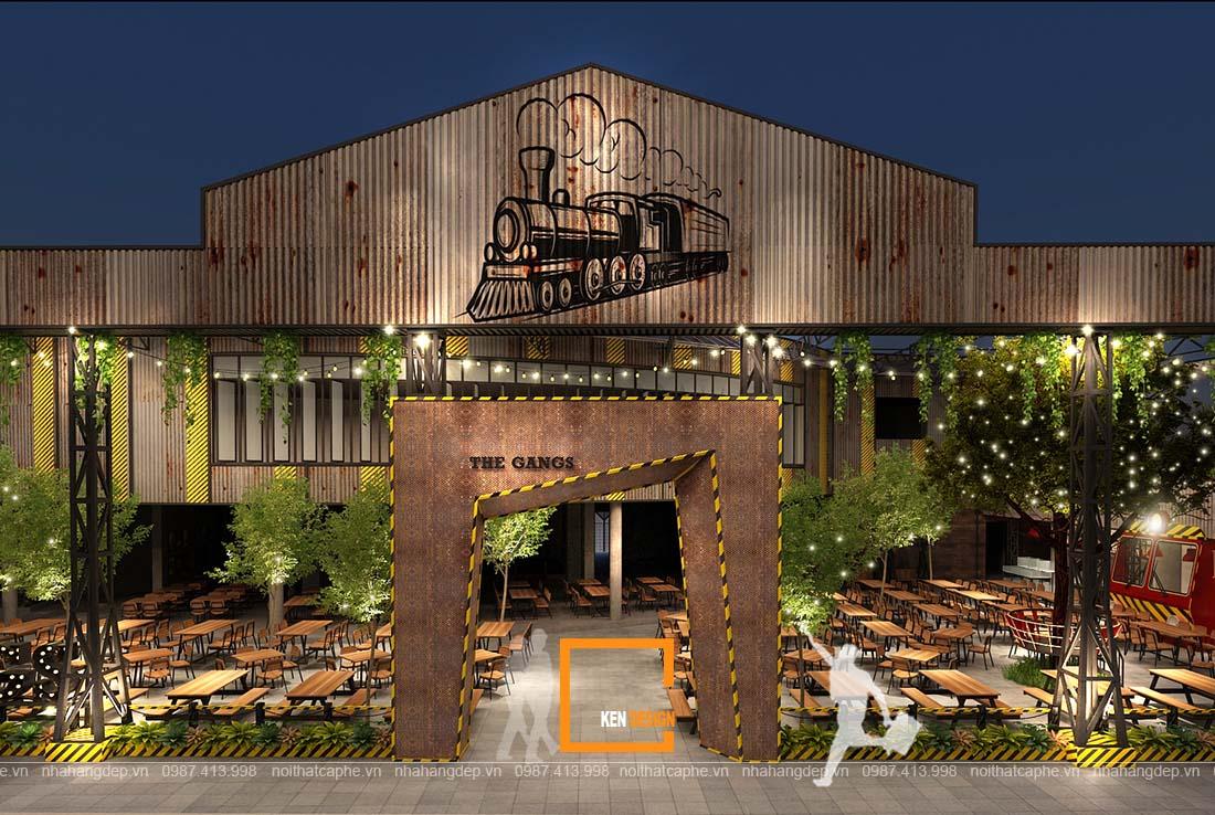 thiet ke nha hang gangs 5 1 - Thiết kế nhà hàng The Gangs - Không gian sáng tạo tuyệt vời