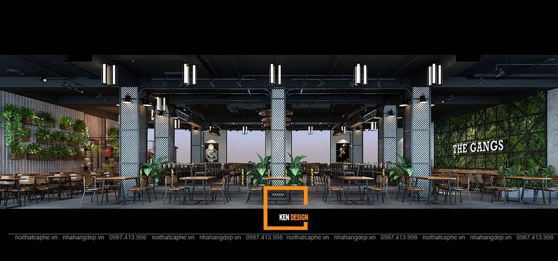thiet ke nha hang gangs 9 1 - Thiết kế nhà hàng The Gangs - Không gian sáng tạo tuyệt vời