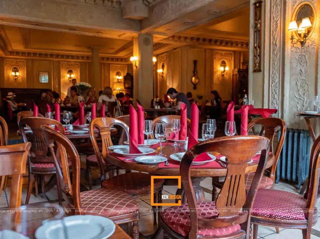 thiet ke nha hang phong cach co dien tai ho chi minh 4 1067x800 - Thiết kế nhà hàng phong cách cổ điển tại Hồ Chí Minh