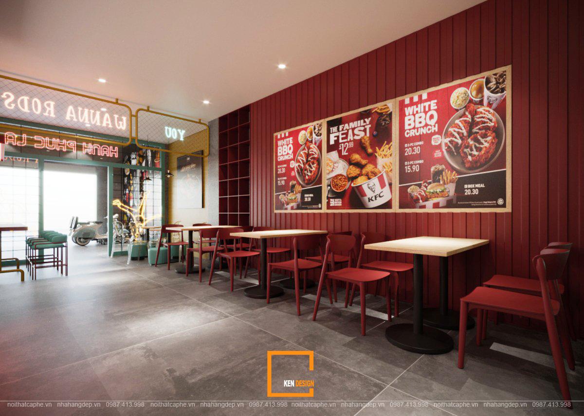 thiet ke nha hang an nhanh rodstarz 11 - Nội thất quán ăn nhanh RodStarz chuẩn Hàn Quốc