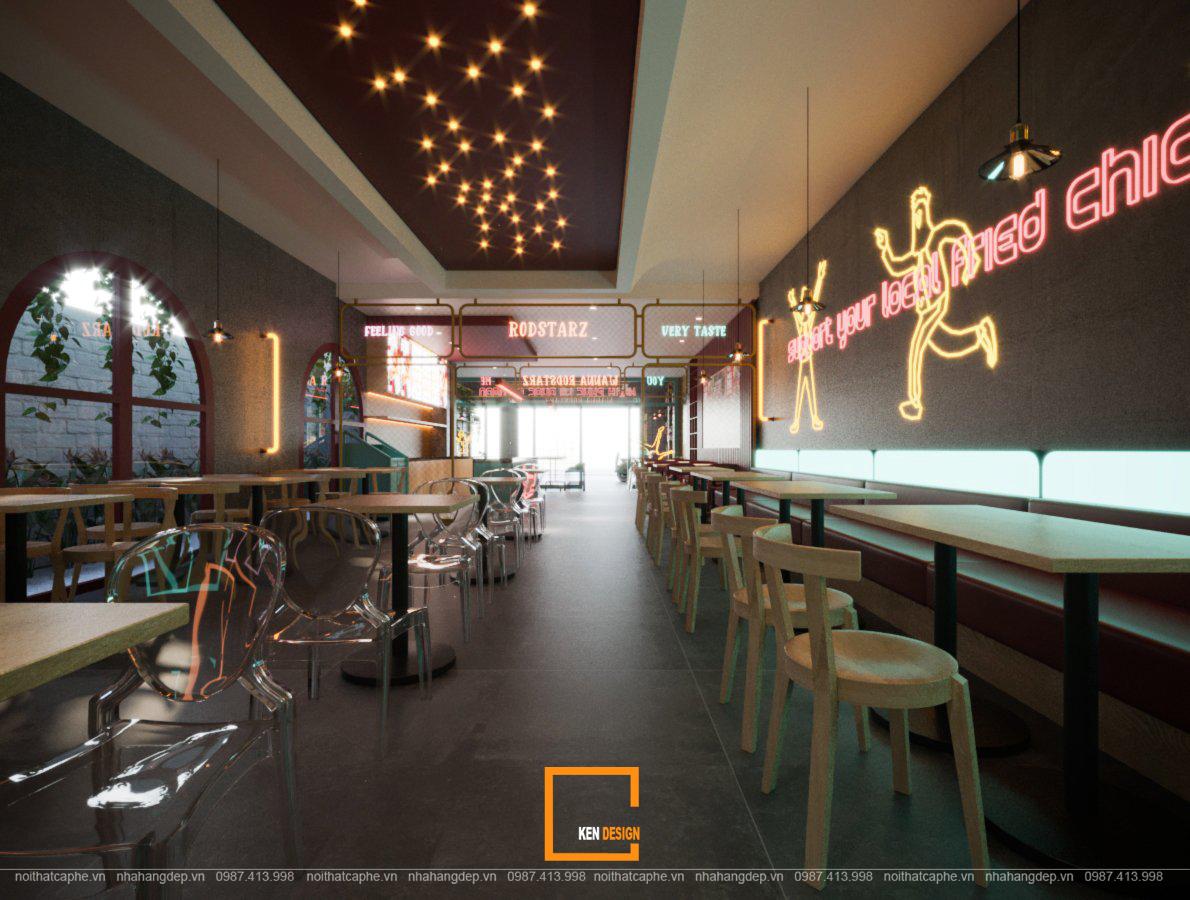 thiet ke nha hang an nhanh rodstarz 12 - Nội thất quán ăn nhanh RodStarz chuẩn Hàn Quốc
