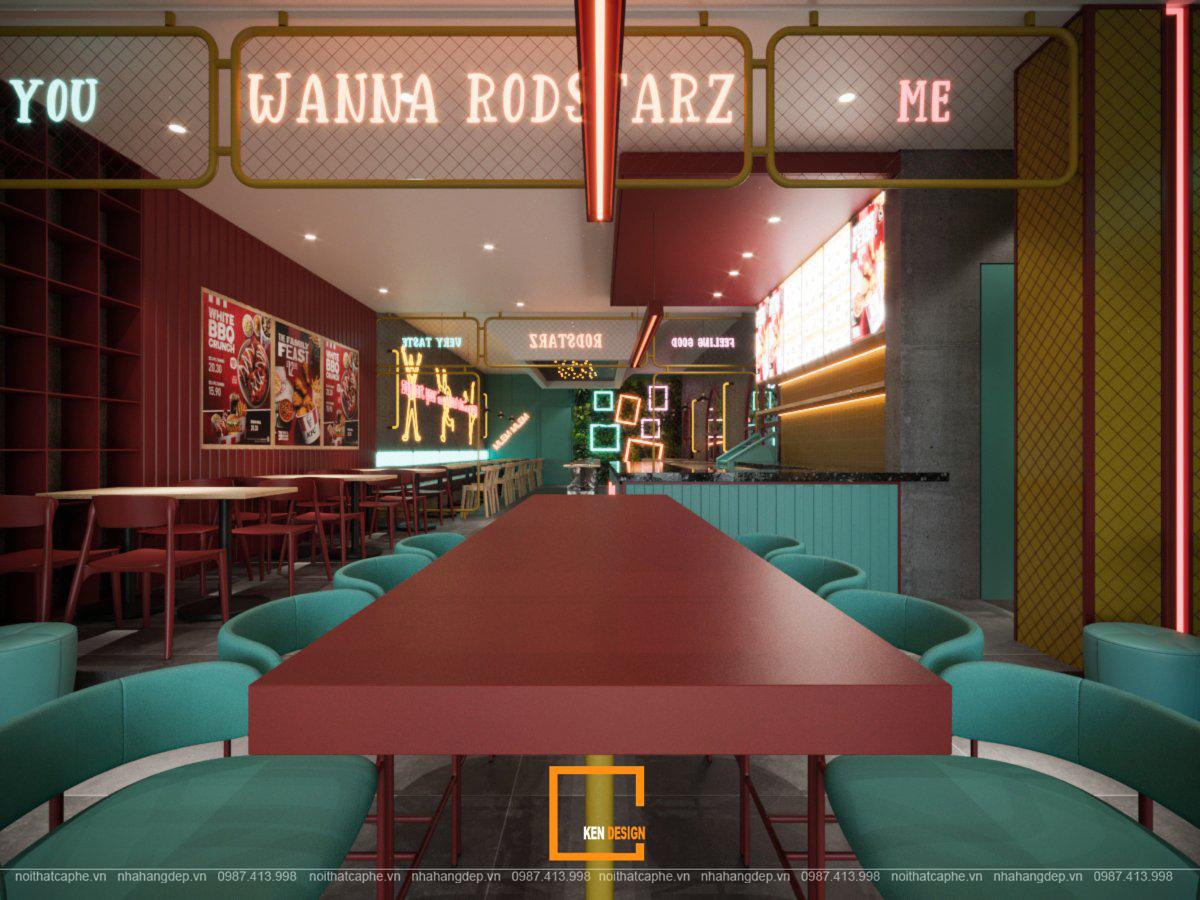 nội thất quán ăn nhanh RodStarz