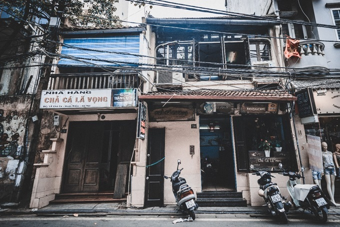 thiết kế nhà hàng chả cá Lã Vọng