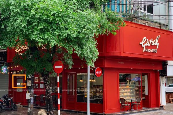 mẫu thiết kế quán cafe kiểu Pháp