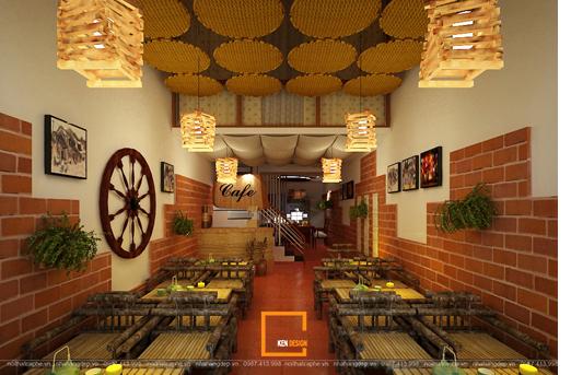thiet ke quan cafe nha ong 26 - Có nên mở quán cafe nhà ống hay không?