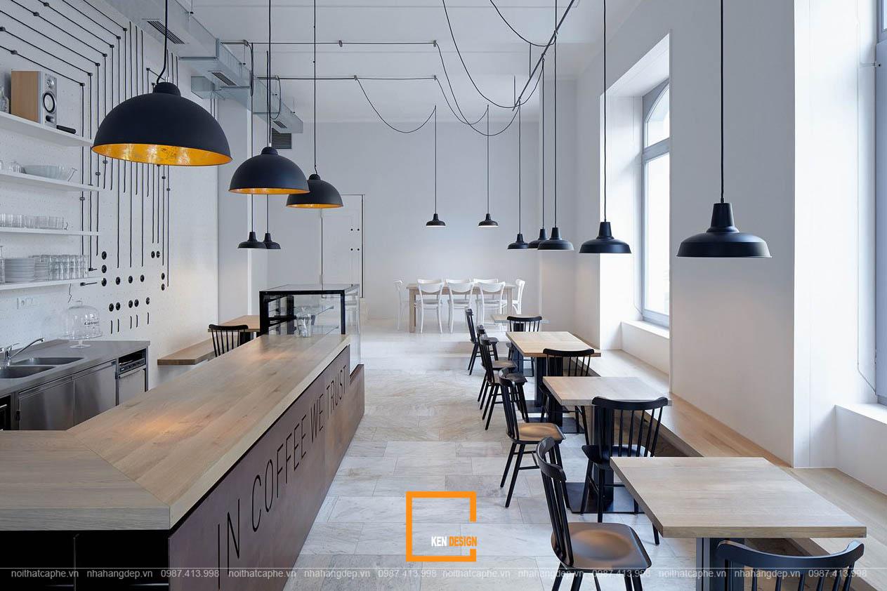 Phong cách Thiết Kế Nội Thất Quán Cafe Tomato.High 2 - Thiết kế nội thất quán cafe tomato.high thể hiện rõ nét phong cách tối giản