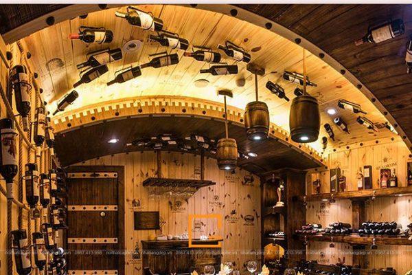 Thiết Kế Thi Công Nhà Hàng Phong Cách Hầm Rượu Vang