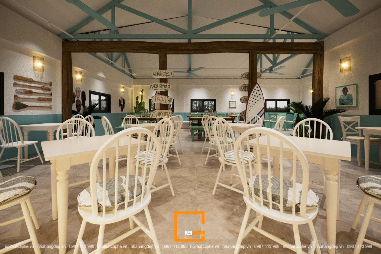 thiết kế quán cafe phong cách Địa Trung Hải