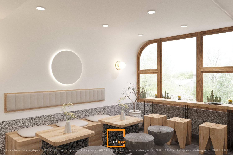 thiet ke quan cafe phong cach toi gian 7 - Chiêm ngưỡng 2 quán cafe phong cách tối giản của KenDesign