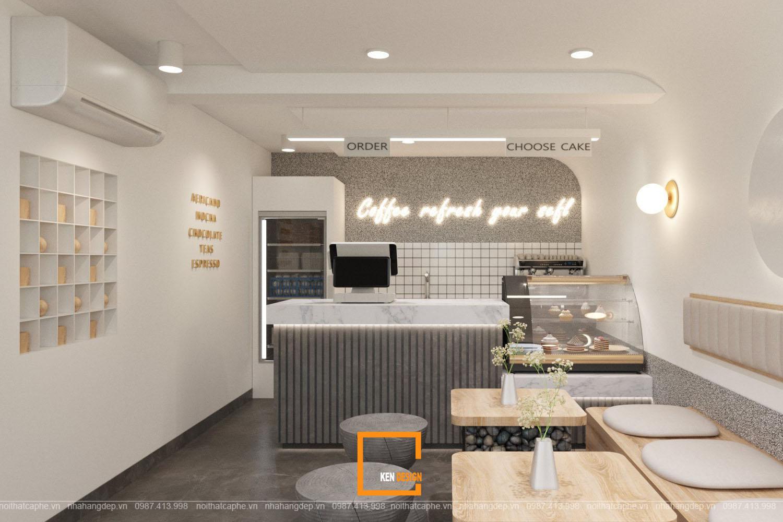 thiet ke quan cafe phong cach toi gian 8 - Chiêm ngưỡng 2 quán cafe phong cách tối giản của KenDesign