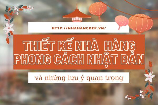 Thiet Ke Nha Hang Nhat Ban